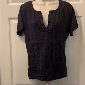 RVCA short sleeve black lace shirt